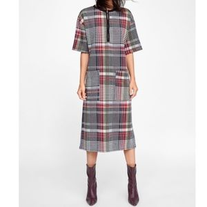 Zara Check Midi Dress